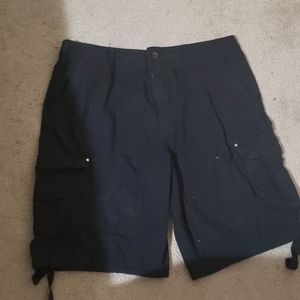 Polo club cargo shorts.  Black.  Waist 36in